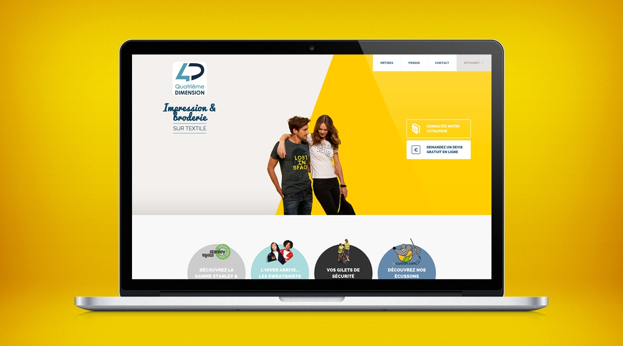 Site e-commerce de broderie de textiles