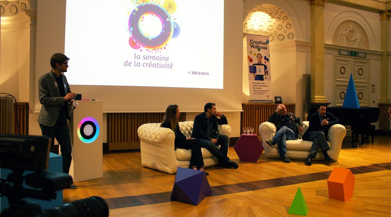 Organisation d'événements dans le cadre du programme Creative Wallonia