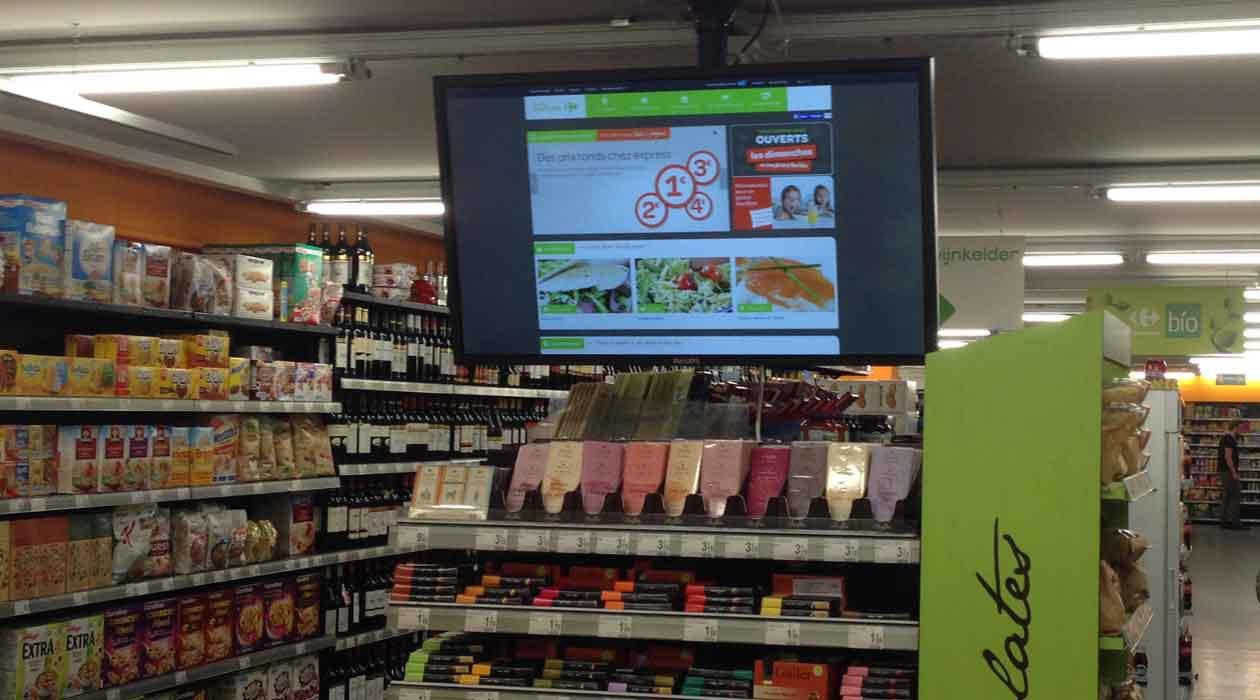 Des écrans pour aider à faire ses courses