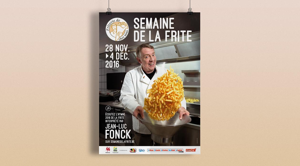 Jean-Luc Fonck chante « les frites de chez nous »