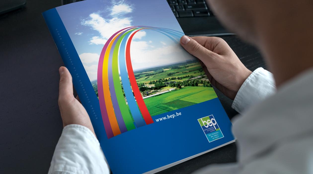 Concept de communication et supports print