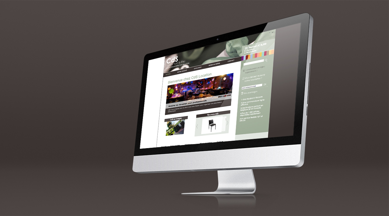 Site e-commerce de location de matériel de réception