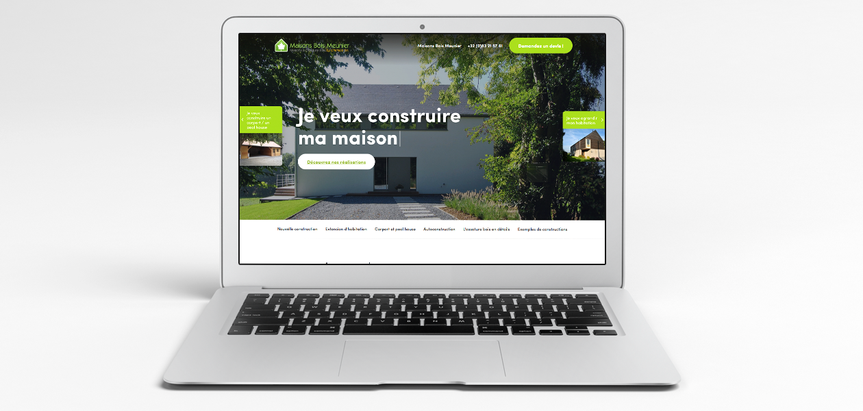 Un site web moderne pour des maisons durables