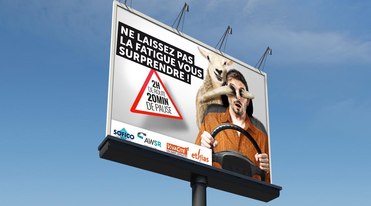 Campagne d'affichage de sensibilisation à la sécurité routière