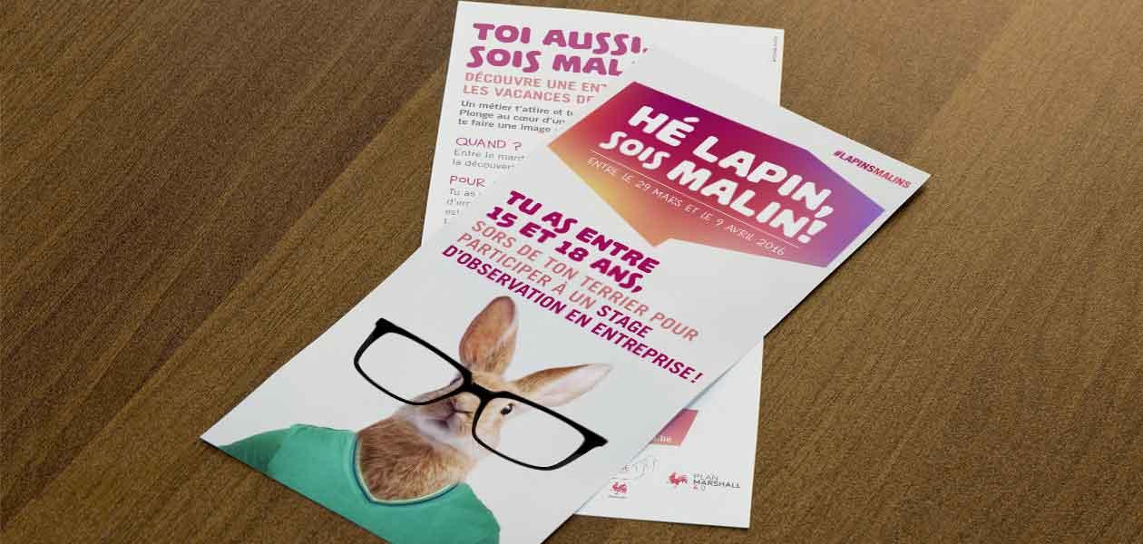 Campagne « Lapin Malin » destinée aux juniors