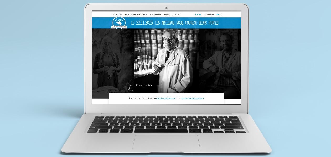 Site Internet pour la « Journée de l'Artisan » 2015