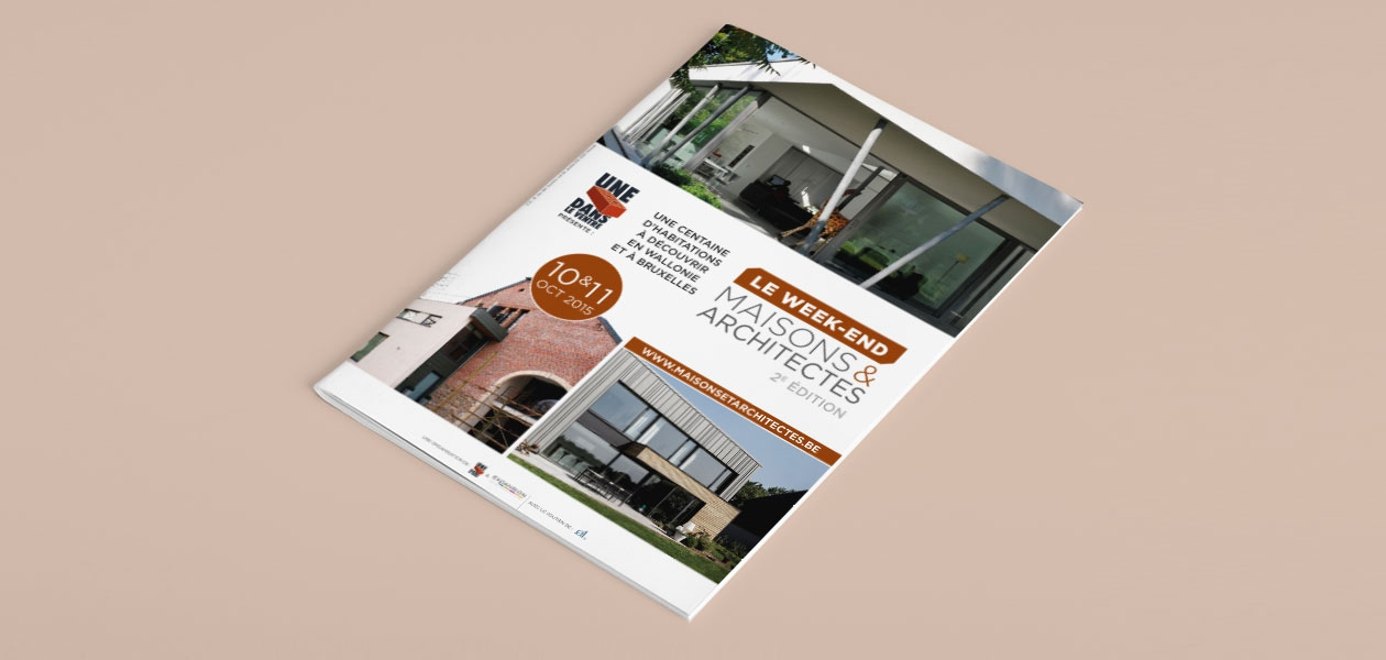 Régie publicitaire du catalogue du « Week-end Maisons & Architectes »