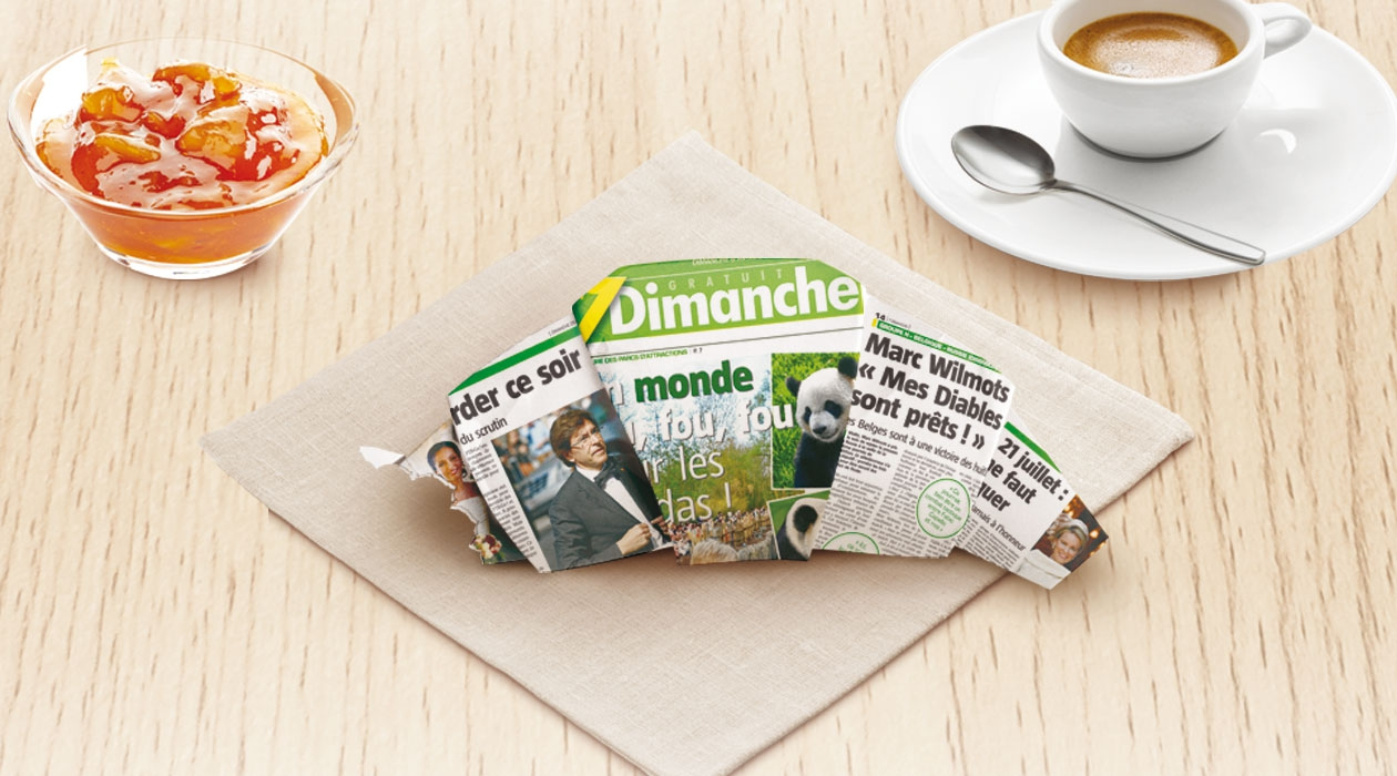 Creation of a new advertising concept for 7Dimanche.