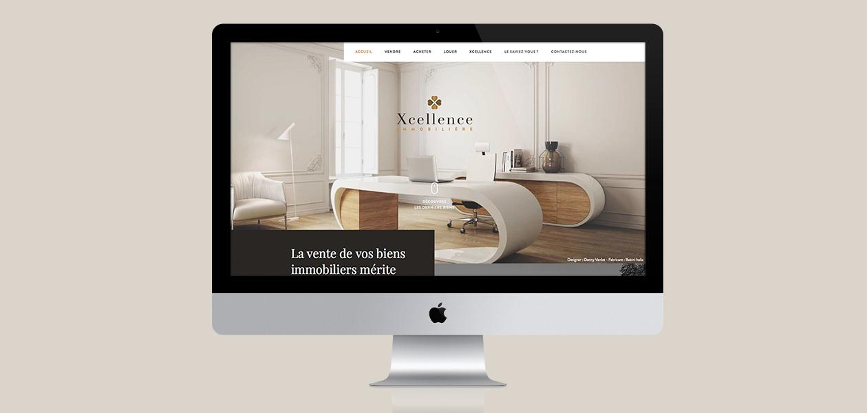 Un site pour une nouvelle agence immobilière